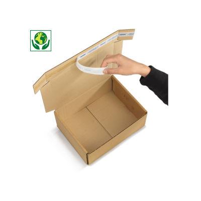 Boîte postale en carton Fastobox brune format A4##Bruine A4 postdoos Fastobox, met verstevigde zijwanden en bodem, zelfklevende sluiting