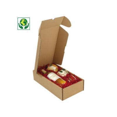 Boîte postale carton Rigibox pour 2 bouteilles