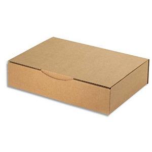 AUTRE Boîte postale en carton simple cannelure Havane - Dimensions : 31 x 21.5 x 7 cm