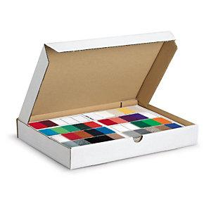 Boîte postale extra-plate carton blanche 30,5x22x2,5 cm