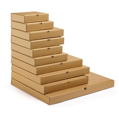 Boîte postale Flach-Pack extra-plate en carton brune##Versandkarton Flach-Pack, braun