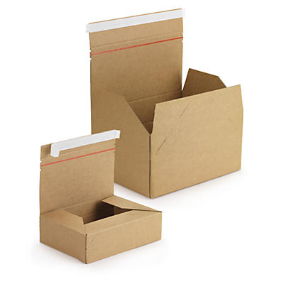 Boîte postale à hauteur variable avec fermeture adhésive##Höhenvariable Postkartons mit Haftklebeverschluss