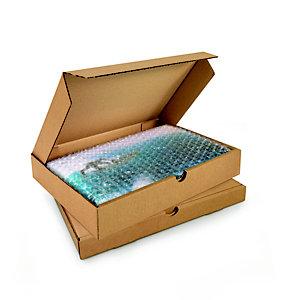 Boîte postale plate en carton simple cannelure brun - Format A4 L.int. 31 x l.22 x H.5 cm