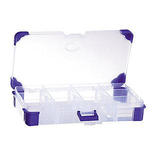 Boîte de rangement en plastique Viso, 11 compartiments amovibles