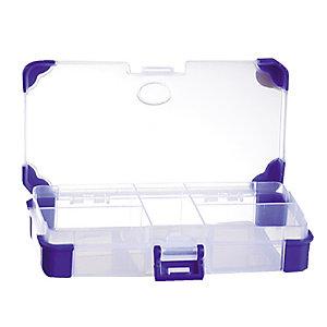 Boîte de rangement en plastique Viso, 12 compartiments amovibles