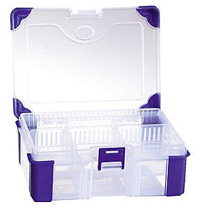 Boîte de rangement en plastique Viso, 5 compartiments fixes