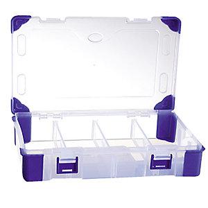 Boîte de rangement en plastique Viso, 9 compartiments amovibles