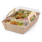 Boîte repas carton alimentaire avec couvercle _ RAJA