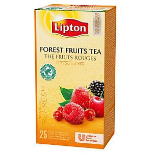 Boîte de Thé Lipton Fruits Rouges, 25 sachets