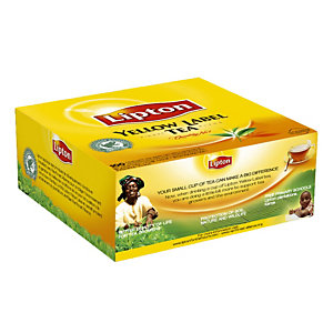 Boîte de thés Lipton Yellow Label, 100 sachets