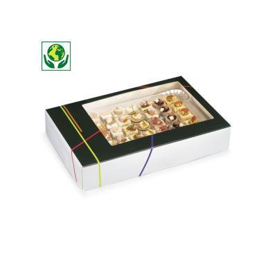 Boîte traiteur avec fenêtre et couvercle intégré Prestige