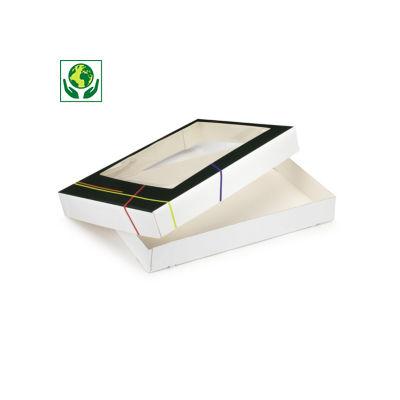 Boîte traiteur grand format avec fenêtre Prestige