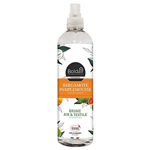 Boldair Brume Air et Textile - Parfum d'ambiance Bergamote Pamplemousse - Spray 400 ml