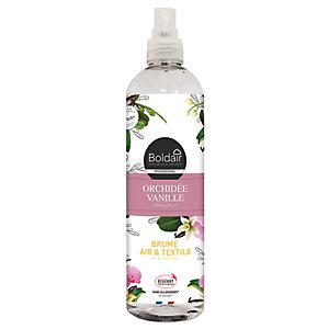 Boldair Brume Air et Textile - Parfum d'ambiance Orchidée Vanille - Spray 400 ml