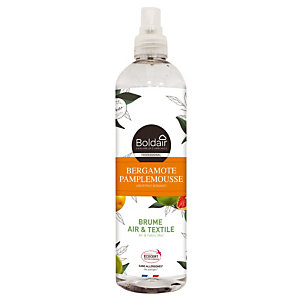 Boldair brume Air & Textile parfum bergamote pamplemousse, vaporisateur de 400 ml