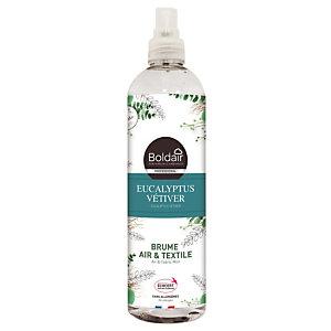 Boldair brume Air & Textile parfum eucalyptus vétiver, vaporisateur de 400 ml.