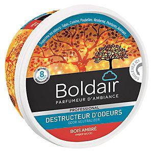 Boldair Destructeur d'odeurs en gel, parfum Bois ambré - pot 300 g