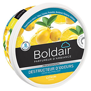 Boldair Destructeur d'odeurs en gel, parfum Citron - pot 300 g
