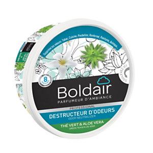 Boldair Destructeur d'odeurs gel, parfum Thé vert et Aloé Vera - pot 300 g