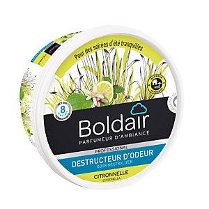 Boldair gel destructeur d'odeurs Citronnelle anti-moustiques 300 g