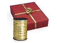 """Bolduc message """"Plaisir d'offrir"""" pour emballage cadeau"""