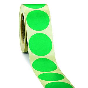 Bollini adesivi removibili in rotolo, Diametro 20 mm, Verde (confezione 500 pezzi)