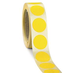 Bollini adesivi removibili in rotolo, Diametro 35 mm, Giallo (confezione 500 pezzi)