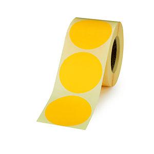 Bollini adesivi removibili in rotolo, Diametro 50 mm, Giallo (confezione 500 pezzi)