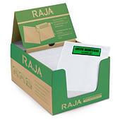 Bolsa adhesiva portadocumentos con mensaje RAJALIST Green