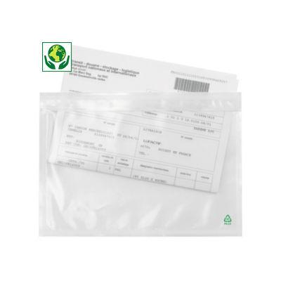 Bolsa adhesiva portadocumentos transparente RAJALIST Green