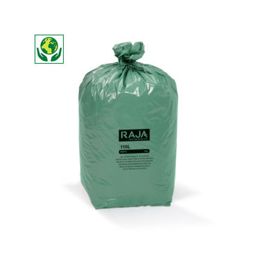Bolsa de basura de plástico regenerado RAJA