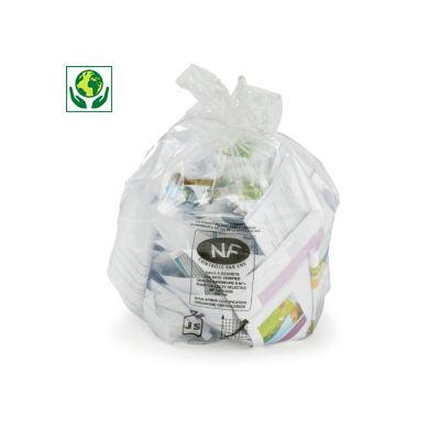 Bolsa de basura transparente