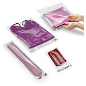 Bolsa de plástico de alto brillo con cierre adhesivo de 40 a 100 micras