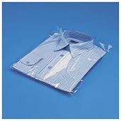 Bolsa de plástico de alto brillo con fuelles y cierre adhesivo