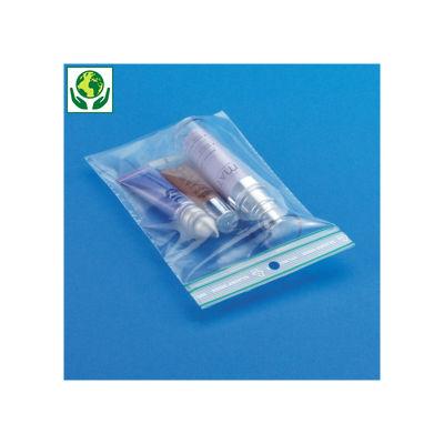 Bolsa de plástico cierre zip 50% reciclada 60 micras / Galga 240 RAJA®