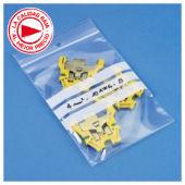 d32a855ad Bolsa de plástico con cierre zip y franjas blancas 50 micras RAJAGRIP Eco