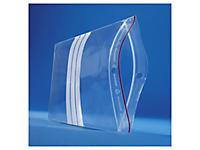 Bolsa de plástico con cierre zip y franjas blancas 60 micras RAJAGRIP Super