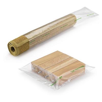 Bolsa tubo de plástico transparente 100 micras 100% reciclada