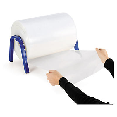Bolsa tubo de plástico transparente 100 micras/Galga 400