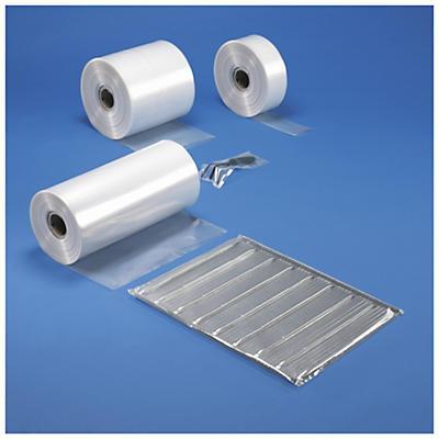 Bolsa tubo de plástico transparente 150 micras/Galga 600