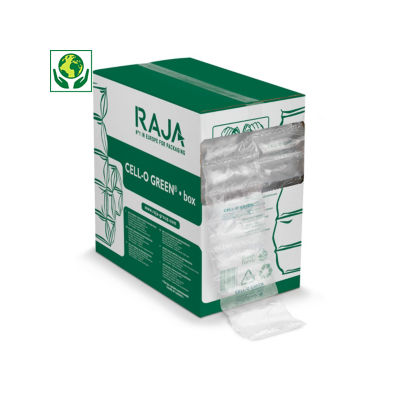 Bolsas de aire ecológicas en caja distribuidora