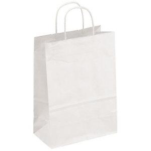 Bolsas de papel, 28 x 36 x 12 cm, blanco