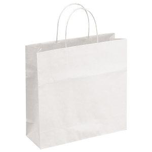 Bolsas de papel blancas 32 x 12 x 41 cm.