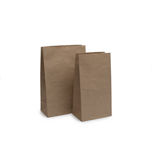 Bolsas de papel kraft sin asas, 22 x 37 cm