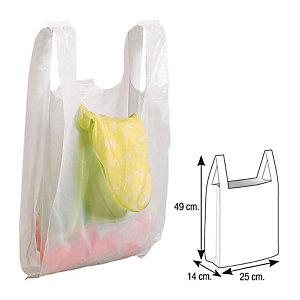 Bolsas de plástico blanco 25x14x49