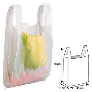 Bolsas de plástico blanco 45x15x70