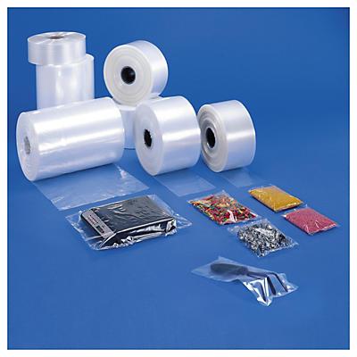 Bolsas tubo de plástico transparente 50 micras