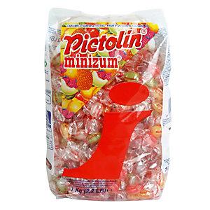 Bonbons Pictolin minizum, aux fruits, en sachet de 1 kg