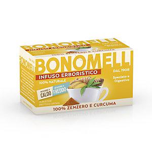 BONOMELLI Infuso 100% Zenzero e Curcuma, 16 filtri