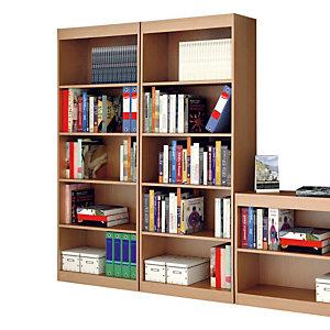 Book Libreria componibile Alta 5 Ripiani, dimensioni 76 x 29 x 186 cm, colore Noce chiaro